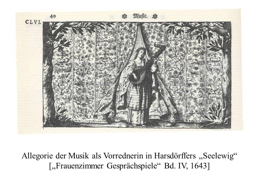 """Allegorie der Musik als Vorrednerin in Harsdörffers """"Seelewig [""""Frauenzimmer Gesprächspiele Bd."""